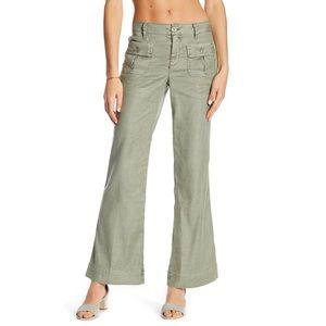 LEVEL 99 Flap Patch Linen Blend Pocket Pants sz 31
